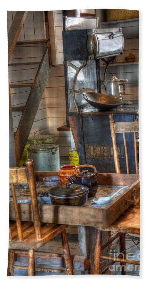 Nostalgia Beach Towel featuring the photograph Nostalgia Country Kitchen by Bob Christopher