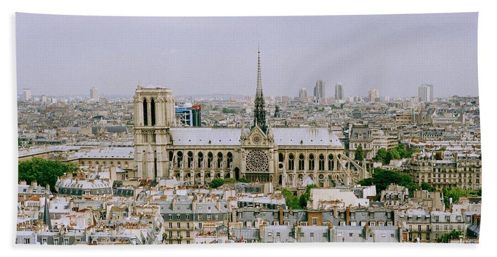Paris Beach Towel featuring the photograph Notre Dame In Paris by Shaun Higson