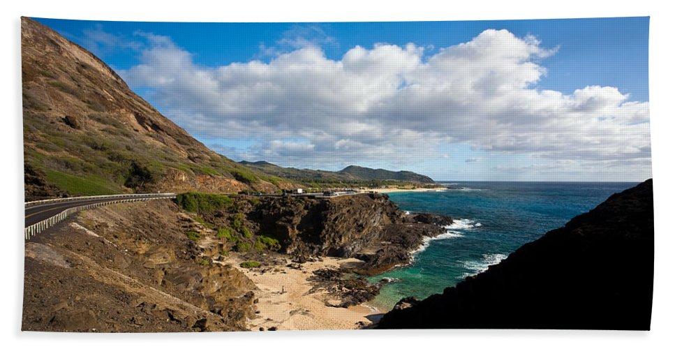 Oahu Beach Towel featuring the photograph Oahu Coastal Getaway by Mike Reid