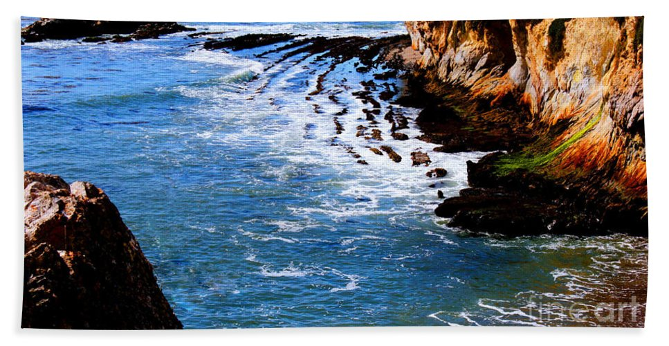Ocean Beach Towel featuring the photograph Ocean Lines by Tap On Photo