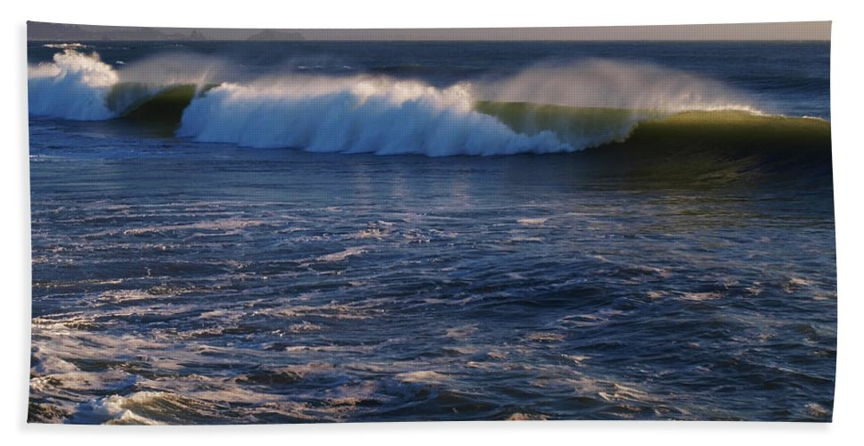 Ocean Beach Towel featuring the photograph Ocean Of The Gods Series by Teri Schuster