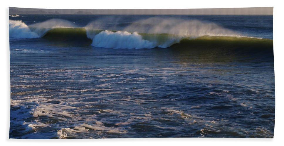 Ocean Beach Towel featuring the photograph Ocean Of The Gods by Teri Schuster