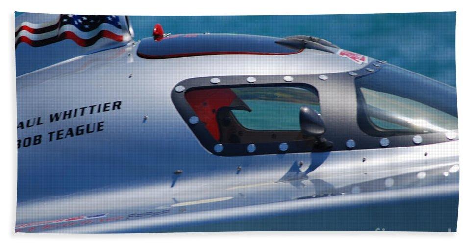 Paul Shittier Beach Towel featuring the photograph Offshore Racer Cockpit by Grace Grogan