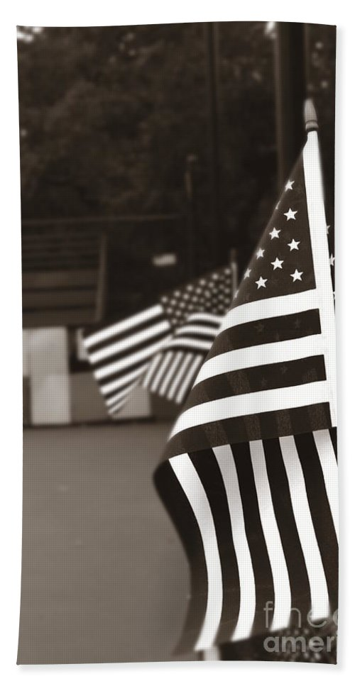 Army Beach Towel featuring the photograph Ojai Memorial Day by Henrik Lehnerer