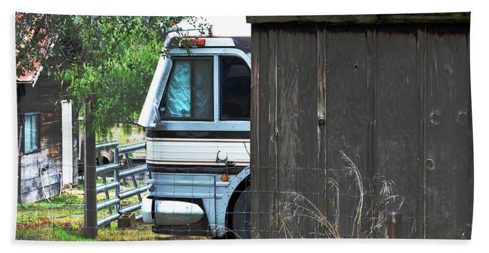 Motor Home Beach Towel featuring the photograph Old And New by Bill Owen