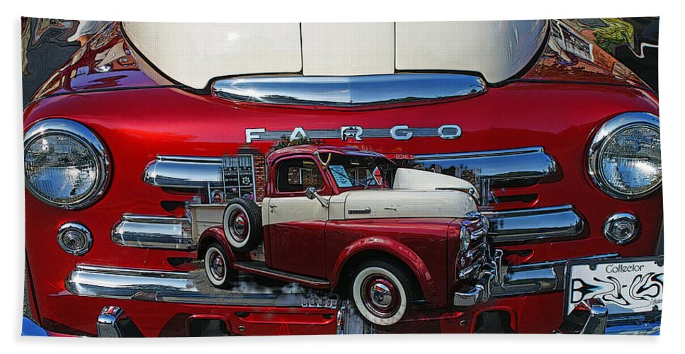 Cars Beach Towel featuring the photograph Old Fargo Pick Up Truck by Randy Harris