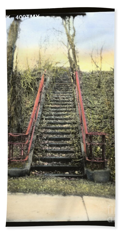 Stairs Beach Towel featuring the photograph Old Stairs by Jill Battaglia