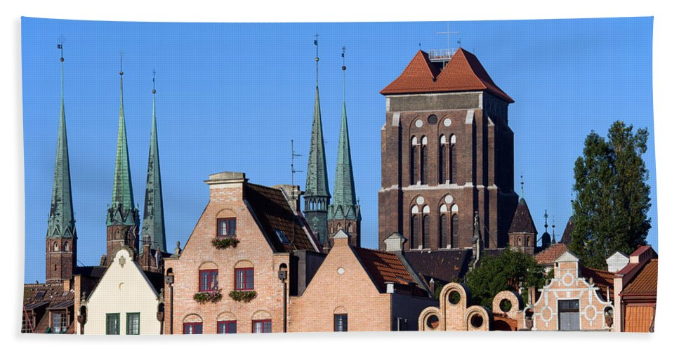 Gdansk Beach Towel featuring the photograph Old Town In Gdansk by Artur Bogacki