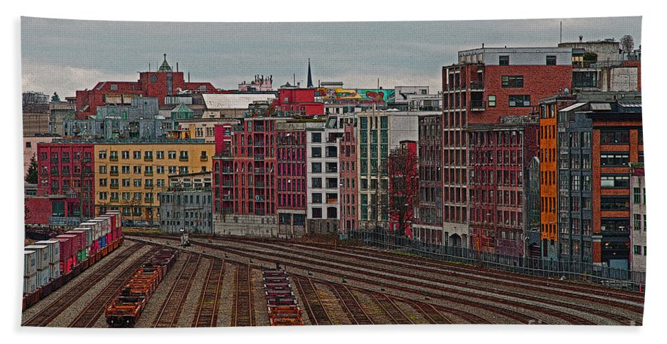 Vancouver Beach Towel featuring the photograph Old Town Vancouver by Randy Harris