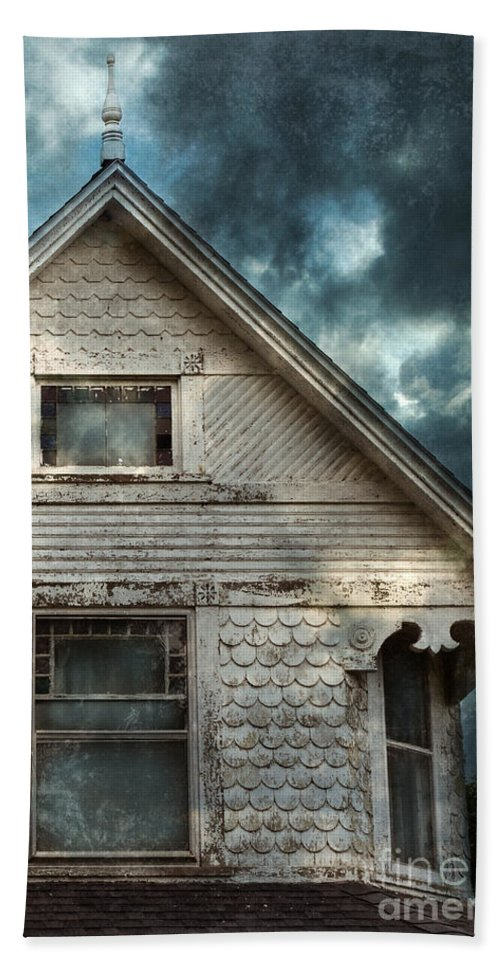 House Beach Towel featuring the photograph Old Victorian House Detail by Jill Battaglia