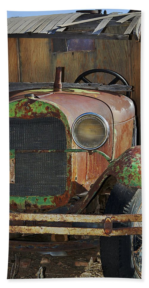Truck Beach Towel featuring the photograph Old Work Horse by Phyllis Denton