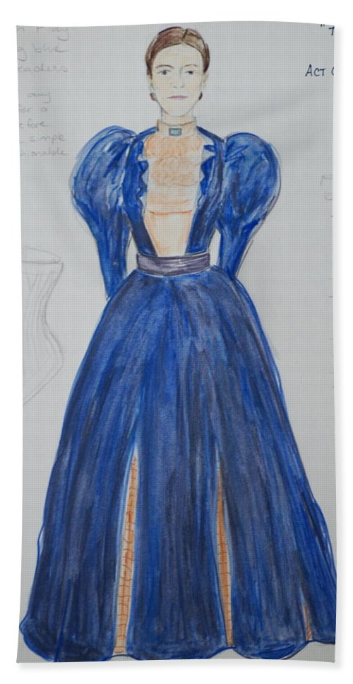 Drawing Beach Towel featuring the mixed media Olga From 'the Three Sisters' by Jennifer Christenson