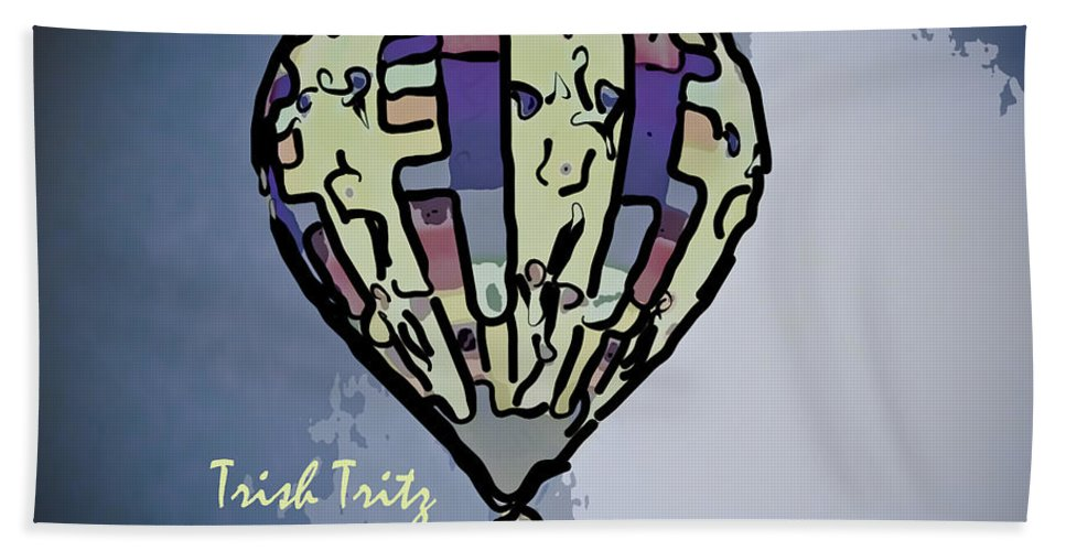 Hot Air Balloon Beach Towel featuring the photograph On Our Way Home by Trish Tritz