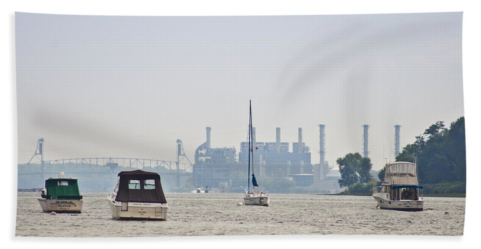 On The Delaware River Beach Towel featuring the photograph On The Delaware River by Bill Cannon