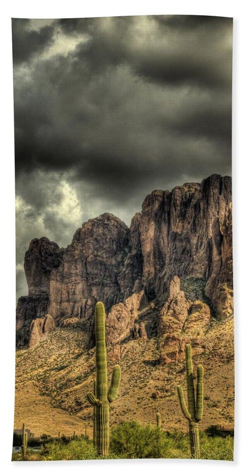 Arizona Beach Towel featuring the photograph On The Mountain by Saija Lehtonen