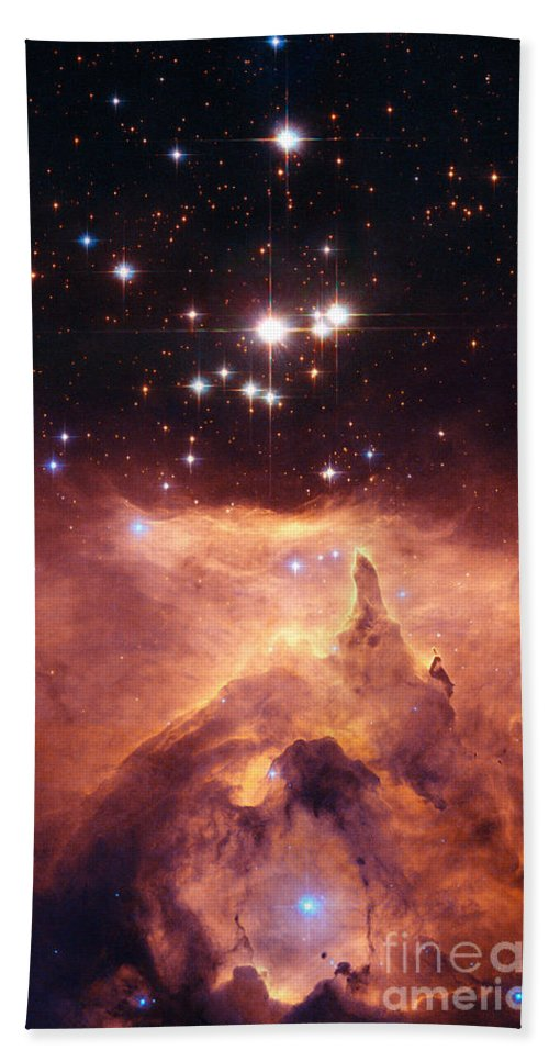 Nasa Beach Towel featuring the photograph Open Cluster Pismis by Nasa