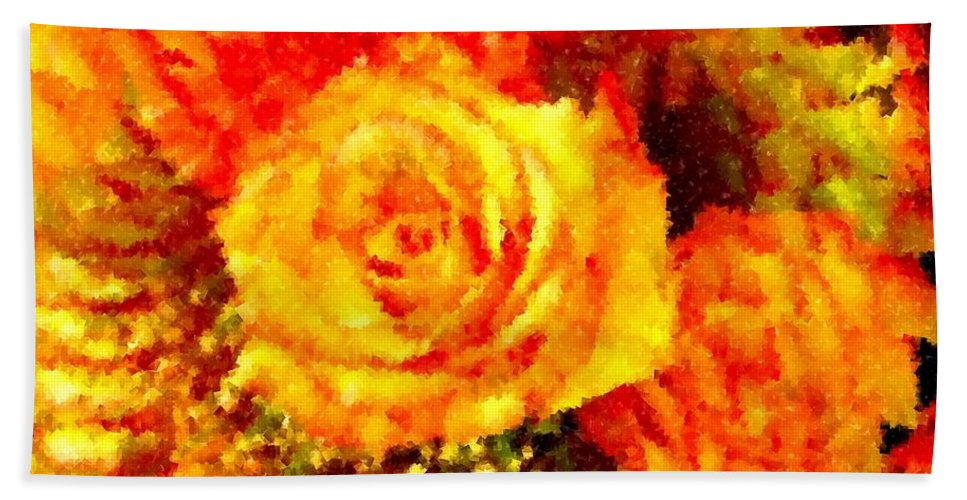Roses Beach Towel featuring the photograph Orange Rose Swirl by Renate Nadi Wesley