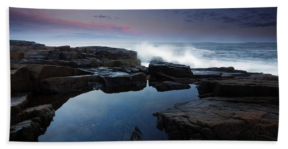 Maine Beach Towel featuring the photograph Otter Point Reflections II by Rick Berk