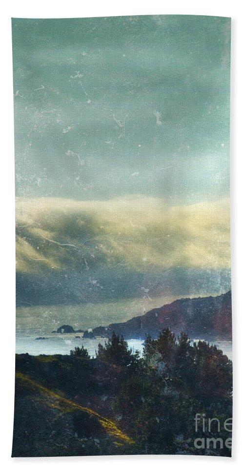 Ocean Beach Towel featuring the photograph Pacific Ocean Fog Bank by Jill Battaglia