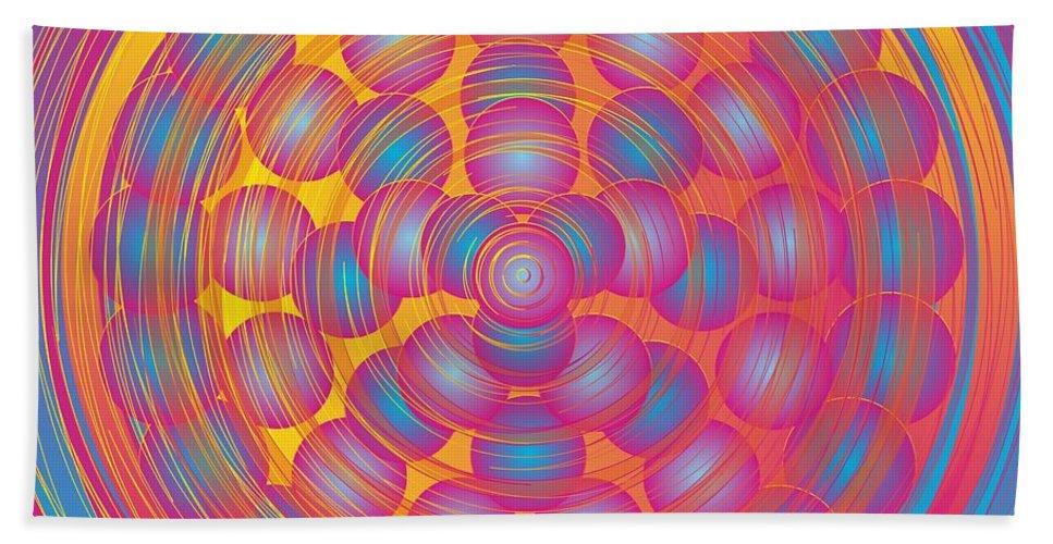 Digital Beach Towel featuring the digital art Paintball 2012 by Kathryn Strick