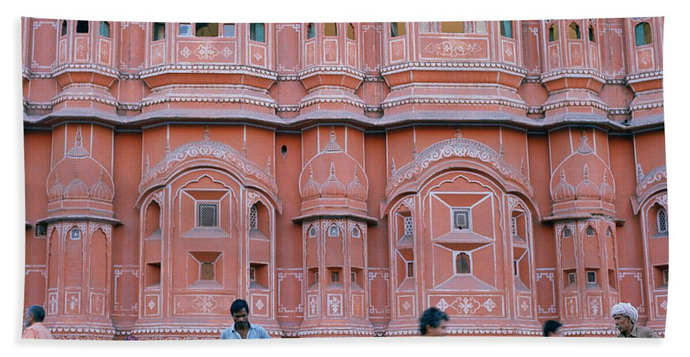 Palace Of The Winds Beach Towel featuring the photograph Palace Of The Winds In Jaipur by Shaun Higson