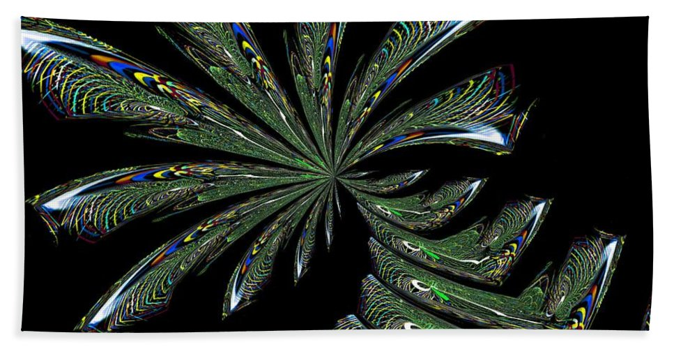 Palm Beach Towel featuring the digital art Palm Trees by Maria Urso