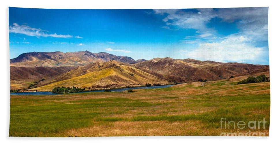 Landsacape Beach Towel featuring the photograph Panoramic Range Land by Robert Bales