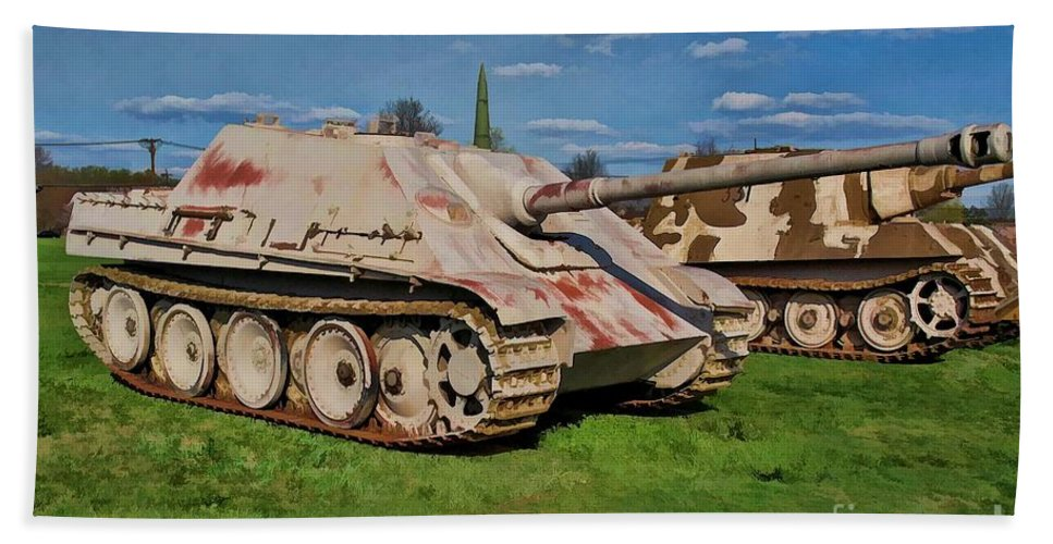 German Beach Towel featuring the photograph Panzerjager V by Tommy Anderson