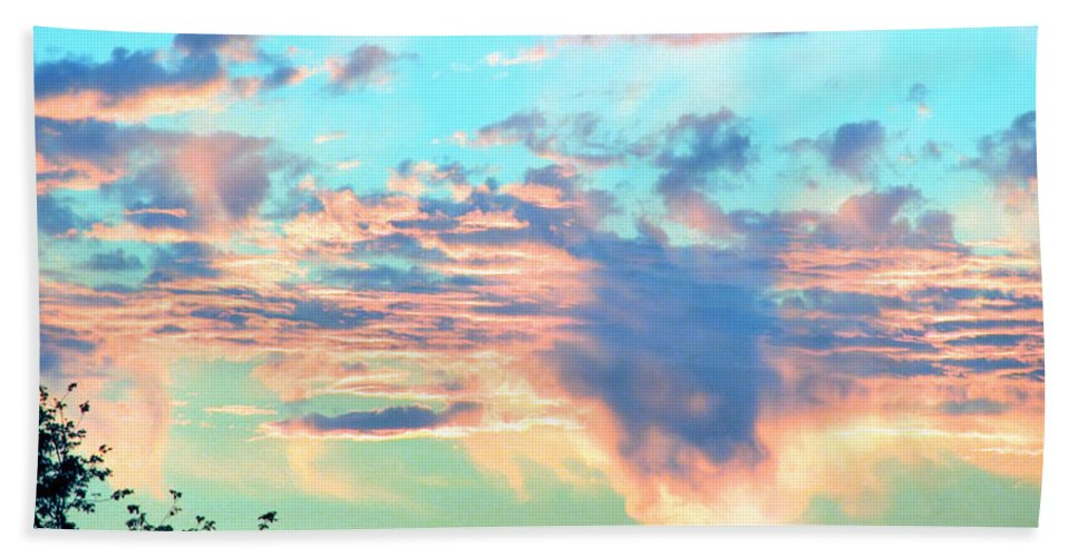 Sunset Beach Towel featuring the photograph Parrish Sunset by Rory Sagner