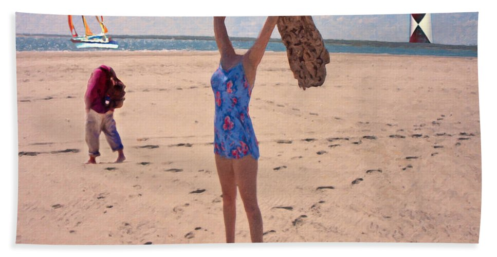 People Beach Towel featuring the photograph Part I  by Betsy Knapp
