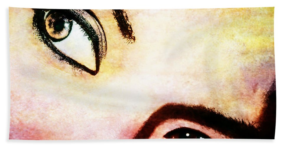 Eyes Beach Towel featuring the photograph Passionate Eyes by Ester Rogers