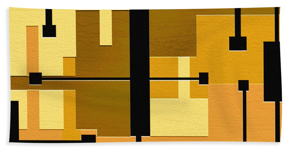 Abstract Art Beach Towel featuring the painting Passive by Ely Arsha