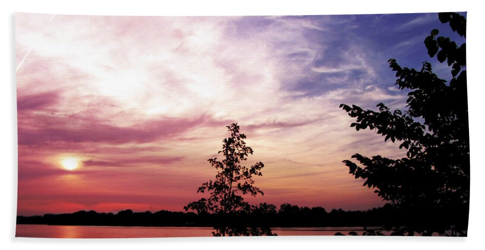 Sunset Beach Towel featuring the photograph Pastel Pink Sunset by Ms Judi