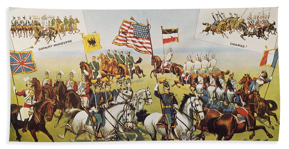 1895 Beach Towel featuring the photograph Pawnee Bill Poster, 1895 by Granger