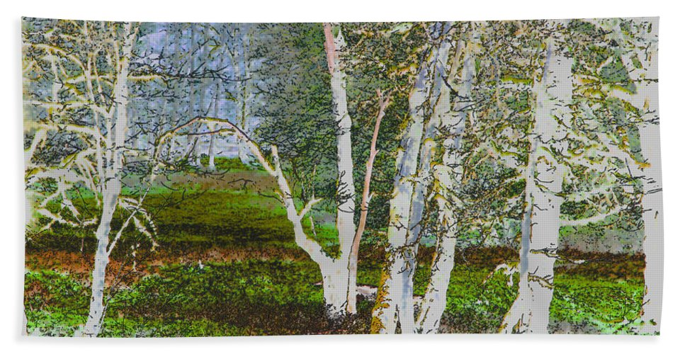 Forest Beach Towel featuring the photograph Peaceful Meadow by Marie Jamieson