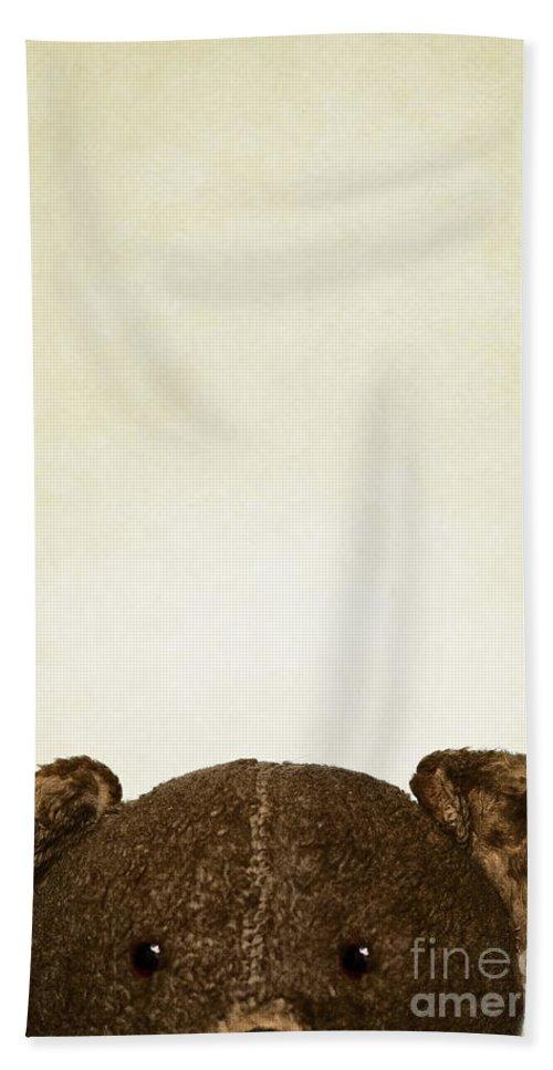 Teddy Bear Beach Towel featuring the photograph Peek A Boo by Margie Hurwich