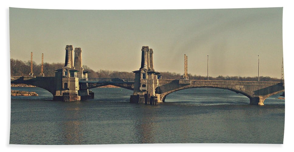 Nature Beach Towel featuring the photograph Pelham Bridge - Fade by Paulette B Wright