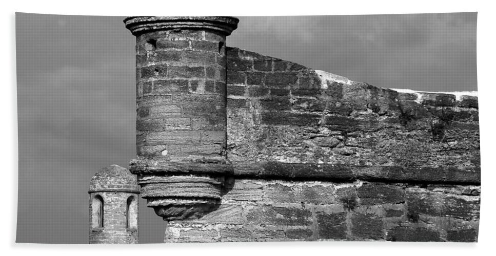 Fine Art Photography Beach Towel featuring the photograph Perched On History by David Lee Thompson