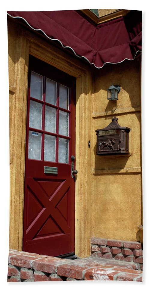 Door Beach Towel featuring the photograph Perfectly Paletted Doorway by Lorraine Devon Wilke