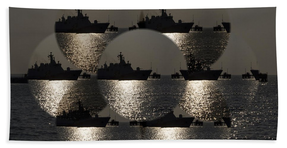 Periscope Beach Towel featuring the photograph Periscope View by Douglas Barnard