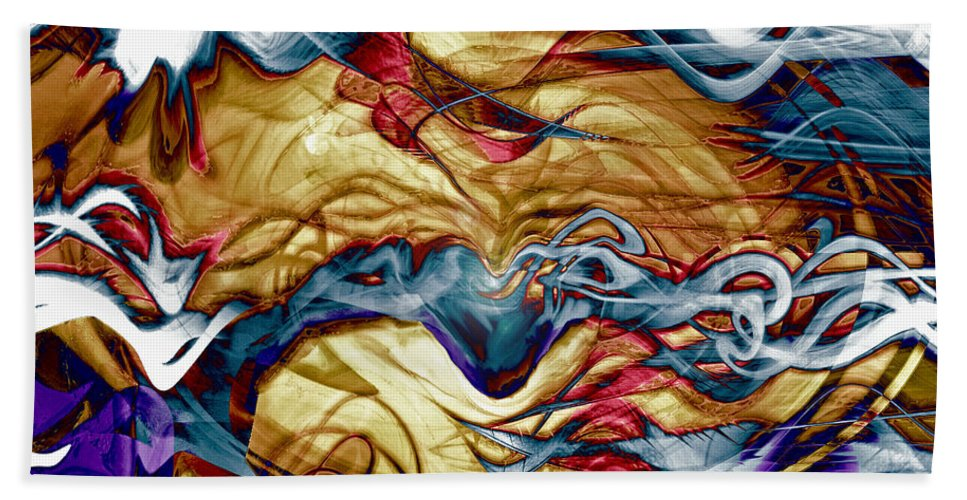 Permanent Waves Beach Towel featuring the digital art Permanent Waves by Linda Sannuti