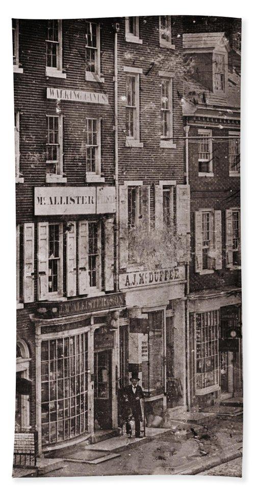 Philadelphia Beach Towel featuring the photograph Philadelphia 1843 by Andrew Fare