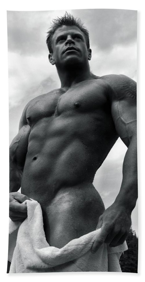 Muscle Beach Towel featuring the photograph Photo 8 by Marcin and Dawid Witukiewicz