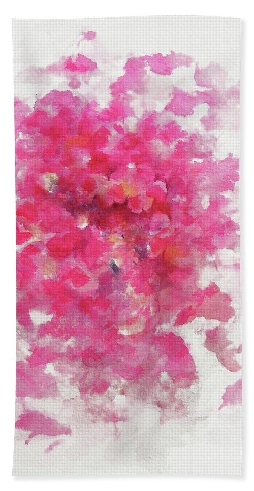 Rose Beach Towel featuring the painting Pink Rose by William Russell Nowicki