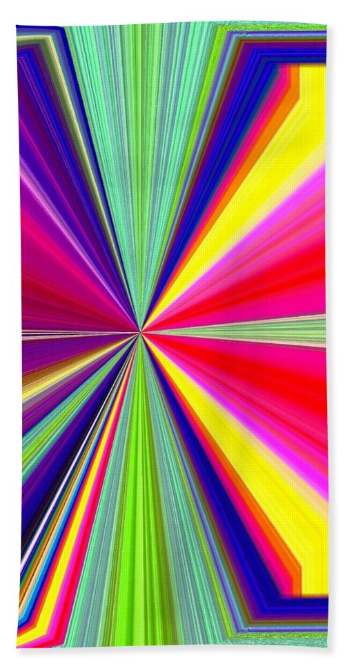 Abstract Beach Towel featuring the digital art Pizzazz 38 by Will Borden