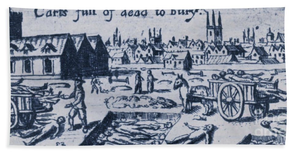 Plague Beach Towel featuring the photograph Plague, 1665 by Science Source