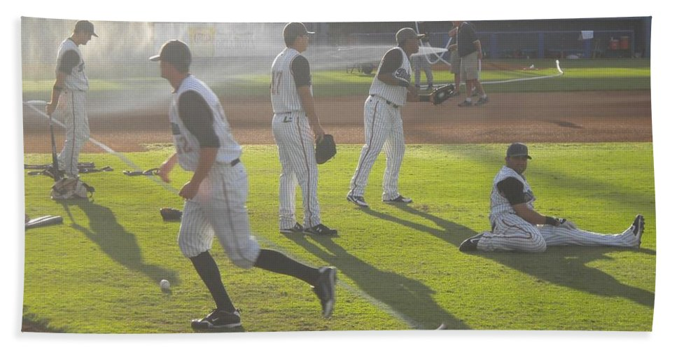 Baseball Beach Towel featuring the photograph Play Ball by Heather Hollingsworth