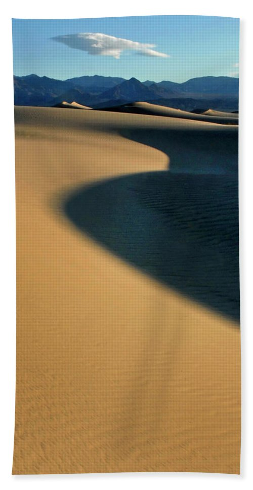 Death Valley Beach Towel featuring the photograph Play Of Light And Shadow by Dave Mills