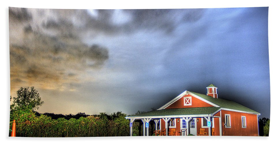 Plymouth Beach Towel featuring the photograph Plymouth Orchards Plymouth Mi by Nicholas Grunas