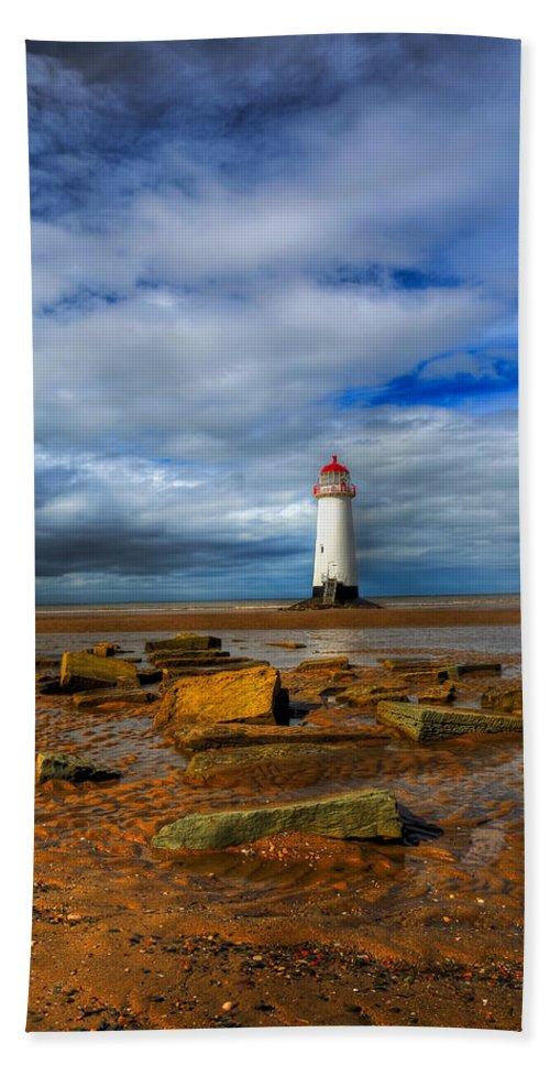Beach Beach Towel featuring the photograph Point Of Ayr Beach by Adrian Evans